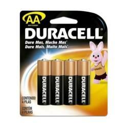 Pilha AA e AAA com 04 unidades Duracell