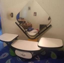 Bancada com espelho para Salão de Beleza - Branco