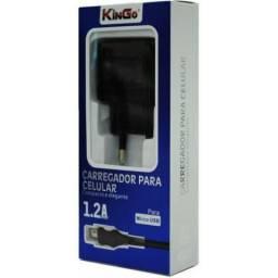 Kit Carregador e Cabo Micro USB (V8) - Kingo - 1 Ampere