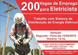 200 vagas para Eletricistas!!!