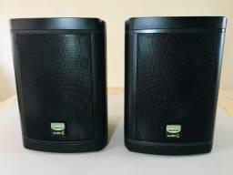 Par de Monitores caixas de áudio, som, Studio com falantes de 6,5 polegadas e suportes