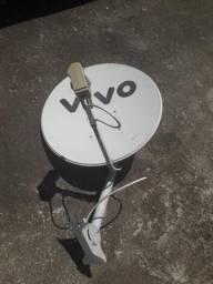 Antena ku 60 cm com lnb satélite