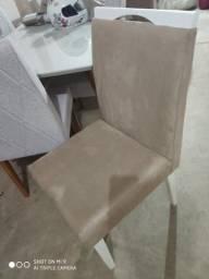 Cadeira ld com pé branco de madeira 6