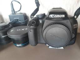 Kit Canon 550D + 4 lentes + tripé