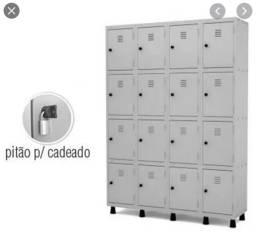 Título do anúncio: Roupeiro de aço 16 portas, guarda volume, armário vestiário