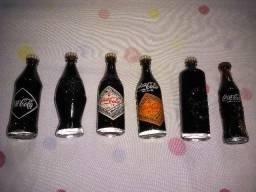Coleção garrafas 25 anos da coca cola