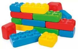 Brinquedo Didático Polibloc - 60 Peças - Poliplac