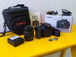 Canon T3i 600D + 18-55mm + 2 Cartões de 4GB + Bolsa