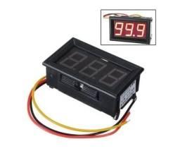 Voltímetro Digital Com Remote Som Automotivo Capa 12v 3 Fios