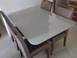 Mesa de jantar menor retangular 4 lugares