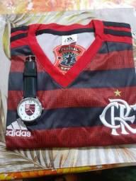 Camisa do Flamengo + relogio do Flamengo