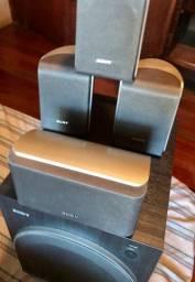 Kit 6.1 Sony para Home Theater - caixinhas e Subwoofer