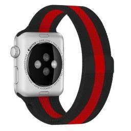 Pulseira Milanese Aço Metal para Iwo Apple Watch