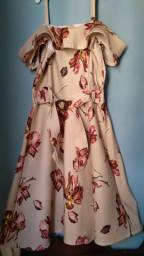 Vestido floral semi novo