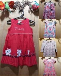 LOTE vestidos menina 1 e 2 anos