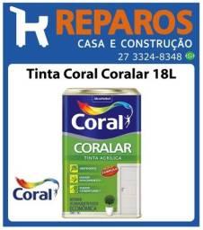Tinta Coral Coralar 18L (Branco ou Gelo)