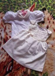 Vestido + body | 3-6 meses bebê menina