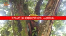 CHACARA NO JARDIM DO INGÁ, 6 MIL METROS, TODA ESPECIE DE ARVORES E PLANTAS