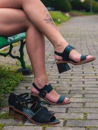 Sandália de Couro Cravo e Canela Nova