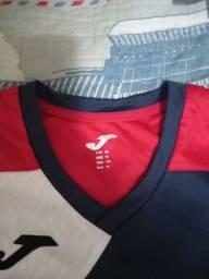 Camiseta para esportes tecido respirável tam 14 anos 15 reais NOVA