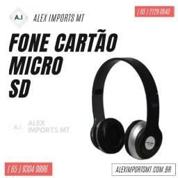 Fone de Ouvido Cartão micro Sd, Headphone Mp3