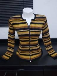 Casaco de lã listrada