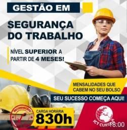 Título do anúncio: Curso Superior em Gestão de Segurança do Trabalho - EAD, Promoção