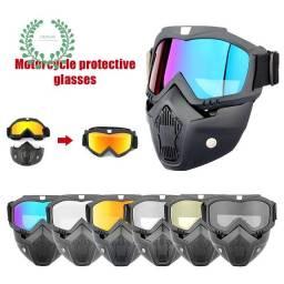Óculos máscara para motociclista ideal para trilhas e rally