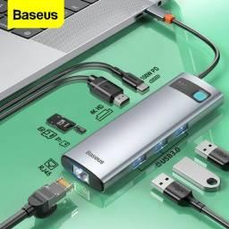 Título do anúncio: Hub Usb-c 8 em 1 Baseus Tipo C Hdmi Rj45 P/ Macbook M1