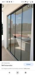 Título do anúncio: Porta de vidro Temperado 10mm com todos os acessórios