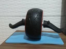 Roda para treino abdominal com tração estabilizadora