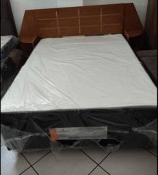 Cama box casal NOVA acoplada por R$: 450, 00 e cabeceira por R$: 290,00