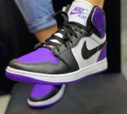 Tenis botinha Nike Jordan Purple edição limitada/casual/academia