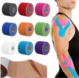 Título do anúncio: Bandagem Elástica Fita Kinesio Fisioterapia Alivia a Dor Lesão Muscular 5cm X 5m(a101)