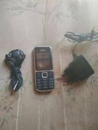 Nokia c2 cemi novo carregador fone cartão memória 100$