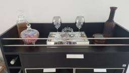Vendo bar/buffet usado msg preto com porta de vidro
