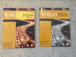 Conjunto 2 Livros Inglês World Pass Advanced Student Book + Workbook Zerados Impecáveis!