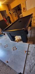 Mesa Charme de Sinuca e Jantar Cor Preta Tecido Preto Mod. SFXA3409