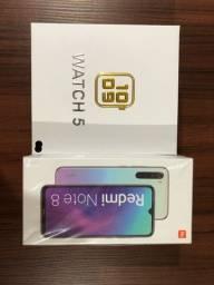 Título do anúncio: Redmi Note 8 (64 Gb + 64 de cartão de memória )com smartwatch 5