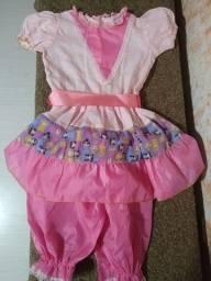 Vestido Junino-5 Anos- Exc Est- Nonoai- Z Sul Poa