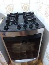 Fogão Consul 4 bocas inox automático mesa de vidro