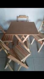 Mesa com cadeiras pra casa apartamento e kitnet