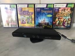 Aparelho Kinect + 4 jogos originais Kinect