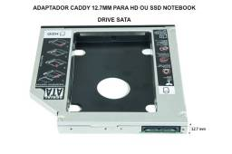 Adaptador Caddy 12.7mm Para Hd Ou Ssd Notebook Drive Sata