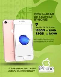 IPHONE 7 LACRADO - aceitamos seu iPhone usado de entrada