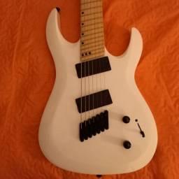 Título do anúncio: Nova - Guitarra 7 cordas Harley Benton R-457mn wh Fanfret multiescala