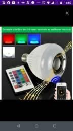 Lâmpada led musical RGB bluetooth