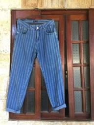 Calça jeans mom tamanho 40