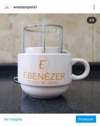 Jogo de xícaras personalizadas
