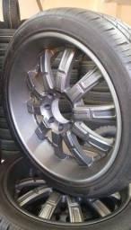 """Jogo de rodas com pneus f250 8 furos 24"""""""